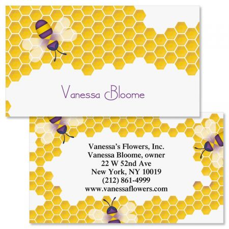 The Bees Knees Double-Sided Business Cards