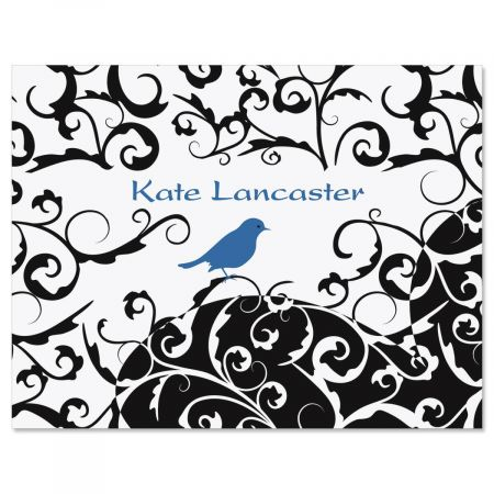 Distinctive Bird  Custom Note Cards