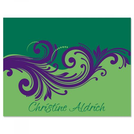 Emerald & Royal Custom Note Cards