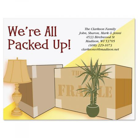 All Packed Up Postcards