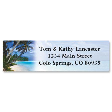 Tropical Paradise II Rolled Return Address Labels  (5 Designs)