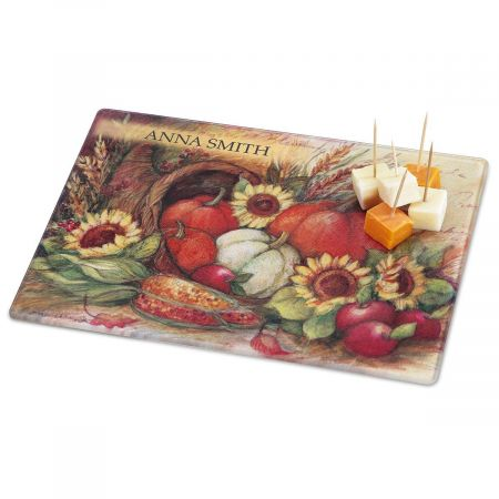Plentiful Harvest Personalized Custom Cutting Board