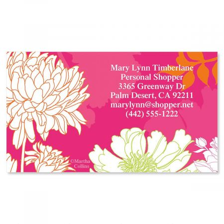 Peonies in Color Business Cards