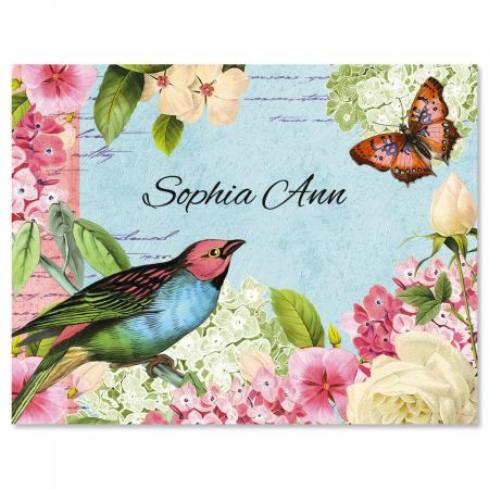 Bird Garden  Personalized Note Cards