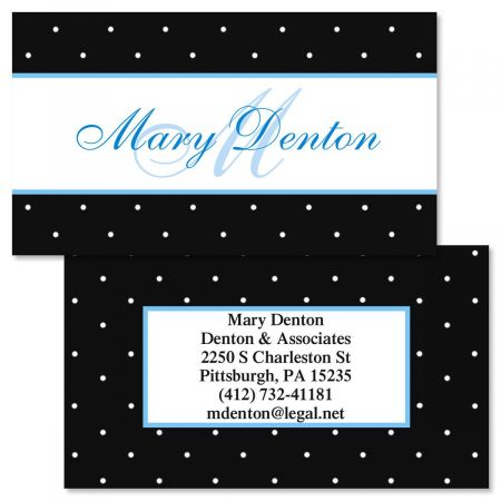 Tiny Dots Double-Sided Business Cards