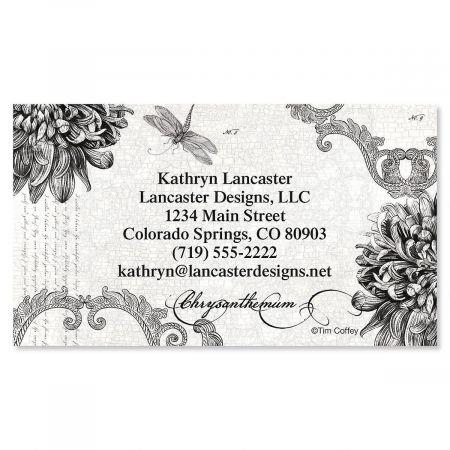 Botanical Black & White Business Cards