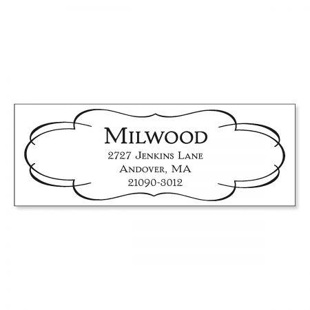 Elegant Frame Address Stamp