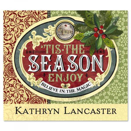 Holiday Season Ephemera  Personalized  Goodie Labels  (1 Design)