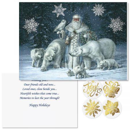 Christmas Splendor Foil Christmas Cards -  Nonpersonalized