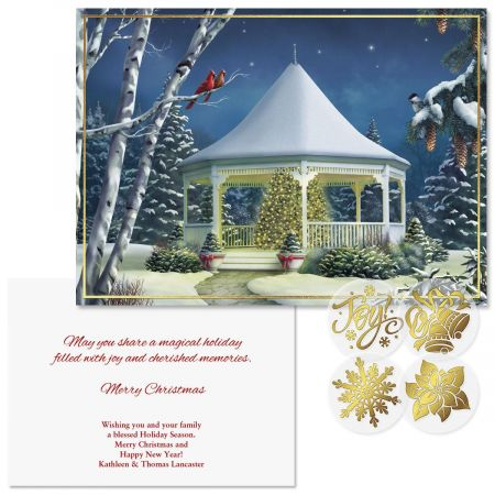 Shining Brightly  Foil Christmas Cards