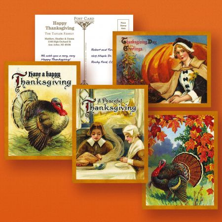 Victorian Thanksgiving Postcards