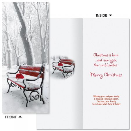 Christmas Quiet Slimline Holiday Cards