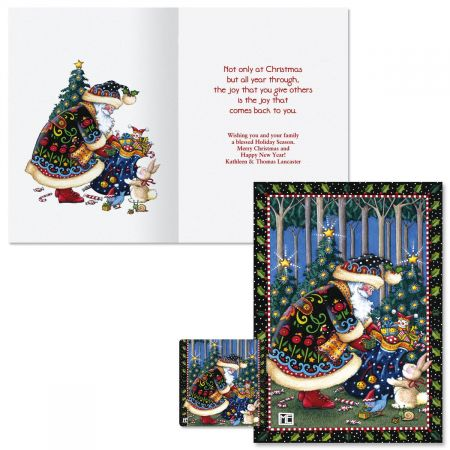 Mary's Woodland Christmas  Christmas Cards -  Personalized