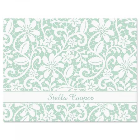 Lace Custom Note Cards