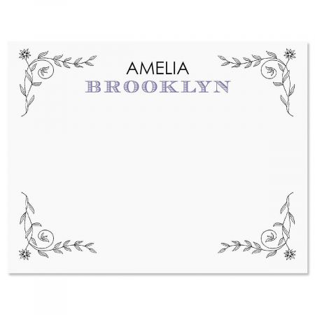 Pentimento Personalized Note Cards