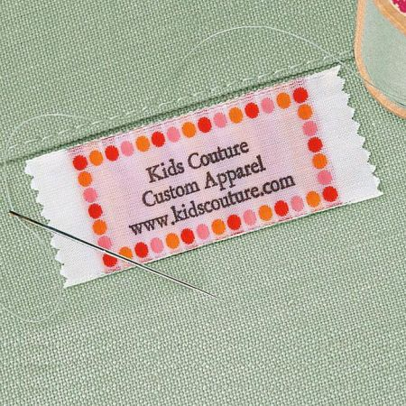 Hot Dots Personalized Sewing Label