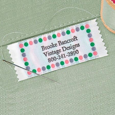 Sassy Dots Personalized Sewing Label