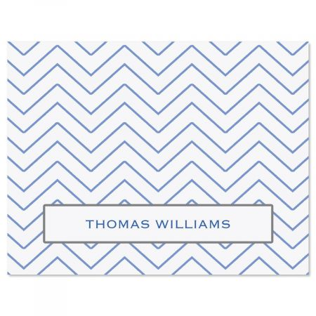 Tailored Chevron Custom Note Cards
