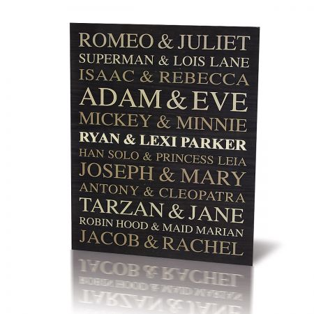 Custom Couples Wooden Plaque