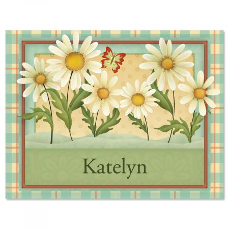 Dusty Blue & Daisies Note Cards