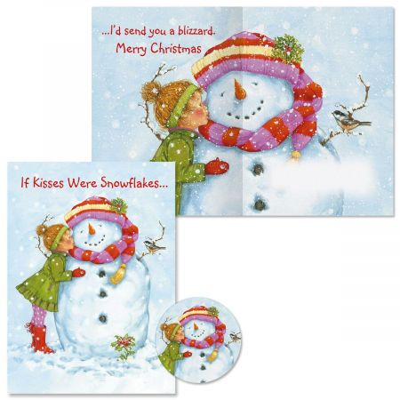 If Kisses Were Snowflakes Christmas Cards -  Nonpersonalized