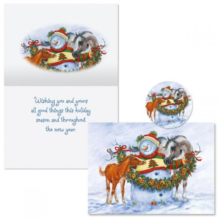 Frosty, Foal, and Felicity Christmas Cards -  Nonpersonalized