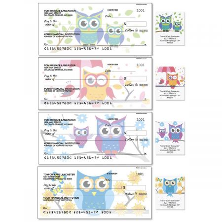 Owluminations Single Checks with Matching Address Labels
