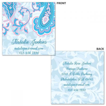 Tranquil Turquoise Double-Sided Square Business Cards