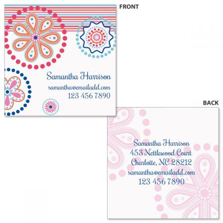 Fresh Melon Double-Sided Square Business Cards