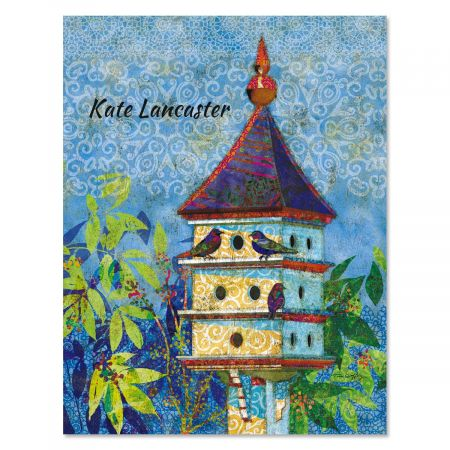 Birdhouse Village Custom Note Cards