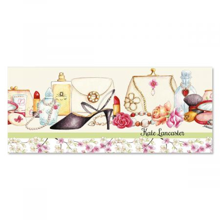 Perfume and Petals Slimline Custom Note Cards