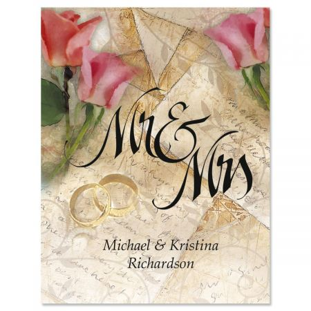 Mr. & Mrs. Personalized Note Cards