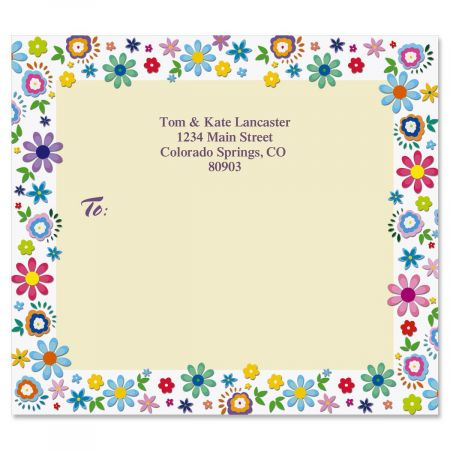 Cheerful Florals Package Labels