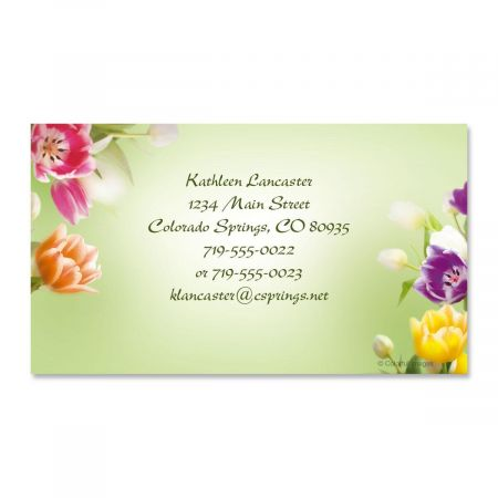 Fresh Tulips Business Cards