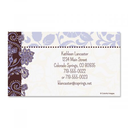 Lavender Brocade Business Cards