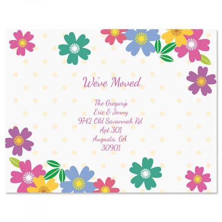 Wild Flower We've Moved Postcards