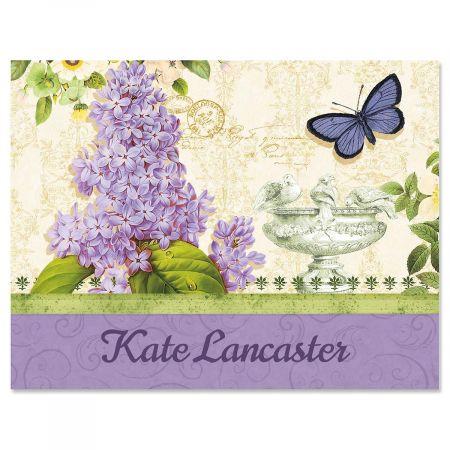 Grande Fleur Custom Note Cards