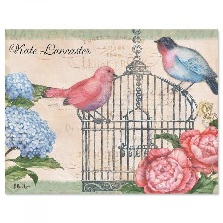 Bella Flora Personalized Note Cards