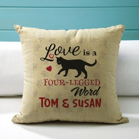 4-Legged Word Custom Pillow