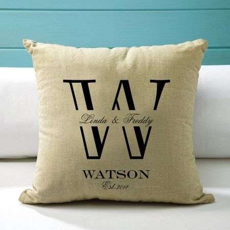 Established Initial Custom Pillow