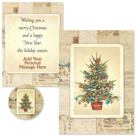 Victorian Tree  Christmas Cards -  Personalized