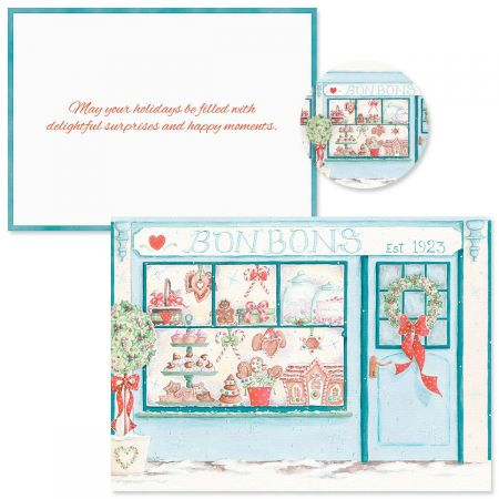 Holiday Window  Christmas Cards -  Nonpersonalized