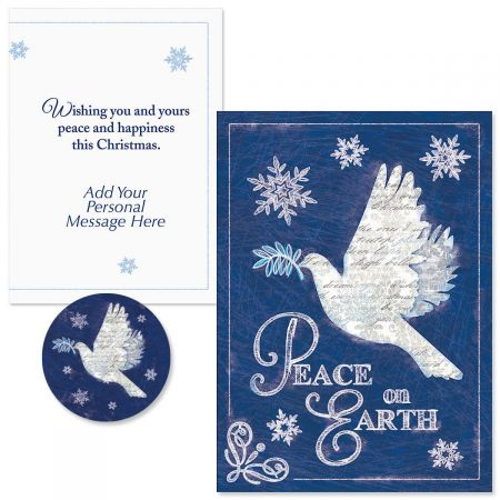 Snow Dove  Christmas Cards