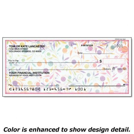 Color Swirl Personal Checks