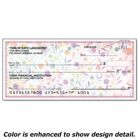 Color Swirl Single Checks