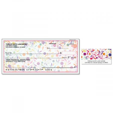 Color Swirl Duplicate Checks with Matching Address Labels