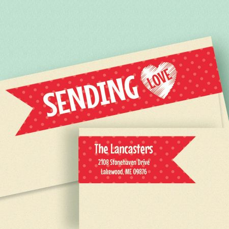 With Love Connect Wrap Diecut Address Labels