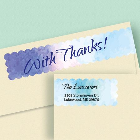 Watercolor Connect Wrap Diecut Address Labels  (4 Designs)