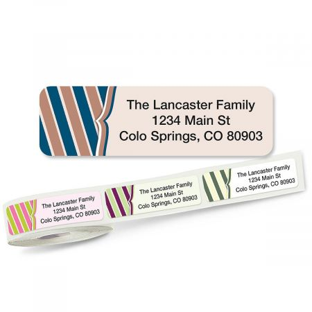 Charming Rolled Return Address Labels  (5 Designs)
