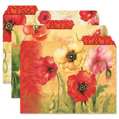 Poppies File Folders